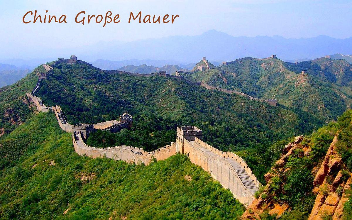 Chinesische Mauer Länge 2021