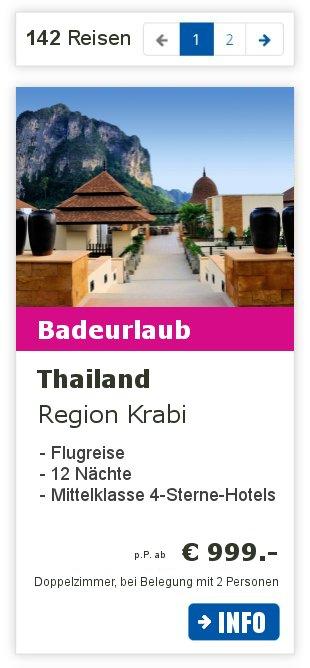 Reiseziel Thailand - 33 Rundreisen